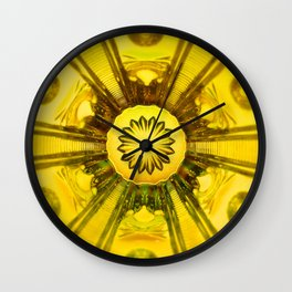 Looking Glass - Yellow Wall Clock