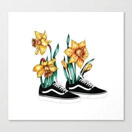 Vans & Narcissus Canvas Print