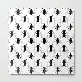 Beetles Throw Pillows Metal Print