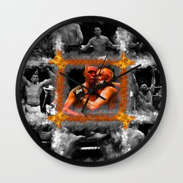 Conor McGregor vs Nate Diaz Wall Clock