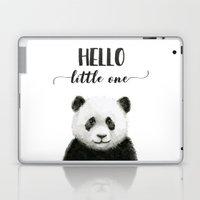 Panda Art Print Baby Animals Hello Little One Nursery Decor Laptop & iPad Skin