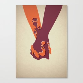 When Two Become One - Hands Canvas Print