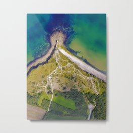 Pointe Du Hoc top down shot with a drone Metal Print