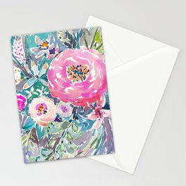 Wild Peony Floral Stationery Cards