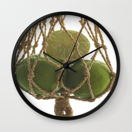 Fresh limes on the Net Wall Clock