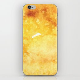 Watercolor yellow orange hand painted abstract pattern iPhone Skin