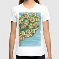 plant T-shirts featuring plant by Onde di Tela by Antonella Franco