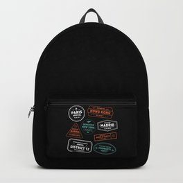 Love To Travel Stamps Backpack