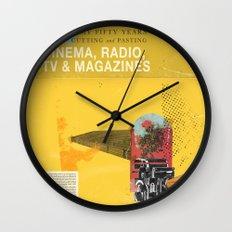 Cinema, Radio, TV and Magazines Wall Clock