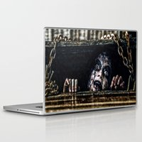 evil dead Laptop & iPad Skins featuring Stay Out of the Basement: Evil Dead by Joe Misrasi