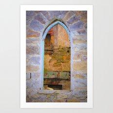 Window in Ruins Art Print