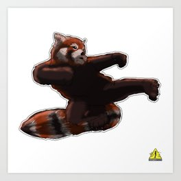 Red Panda Kick Art Print