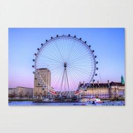 The London Eye, London Canvas Print