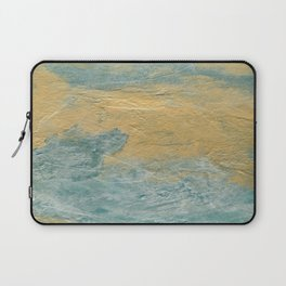 Copper Turquoise #03 Abstract Texture | Corbin Henry | Faux Finishes Laptop Sleeve