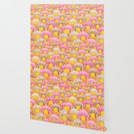 Donuts Wanderlust Yellow Gold Wallpaper