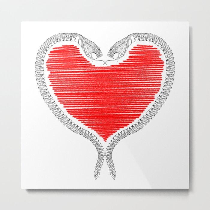 Duality - Love Metal Print