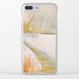 Snowy Serenade Clear iPhone Case