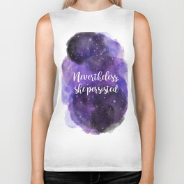 Celestial Nevertheless, she persisted Biker Tank