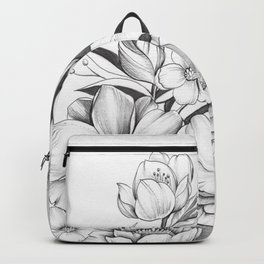 B&W Flowers Backpack