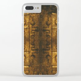 Architecture Wall of Aztec Ancestary Clear iPhone Case