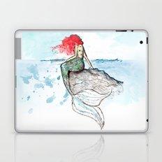 Mermaid - watercolor version Laptop & iPad Skin