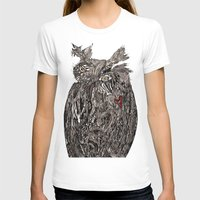 greg guillemin T-shirts featuring Owl Abstract by Greg Phillips by SquirrelSix