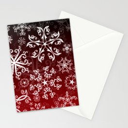 Symbols in Snowflakes on Holly Berry Stationery Cards