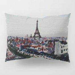 Paris Eiffel Tower Acrylics On Canvas Board Pillow Sham