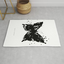 Grunge Butterfly Rug