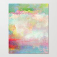 tchmo Canvas Prints featuring Untitled 20120222n (Cloudscape) by tchmo