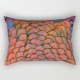 Vivid jazzy coloured feathers  Rectangular Pillow