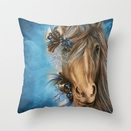 Pretty Blue  Throw Pillow