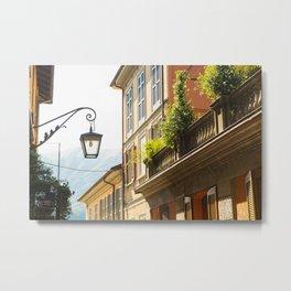 Street Lamp, Bellagio Metal Print