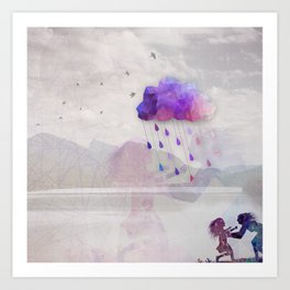 Enjoy the Rain Art Print