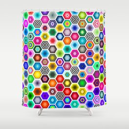 Honeycomb Hideout  Shower Curtain