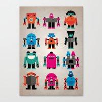 robots Canvas Prints featuring Robots by Marco Recuero