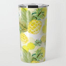 Pineapple Watercolor Fresh Summer Fruit Travel Mug