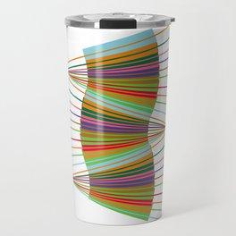 Abstract Lines Atr Design Travel Mug