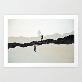 Climbing Art Print