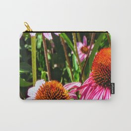 Pink Eyes Big Blooms Carry-All Pouch