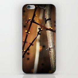 fire sunset tree buds iPhone Skin