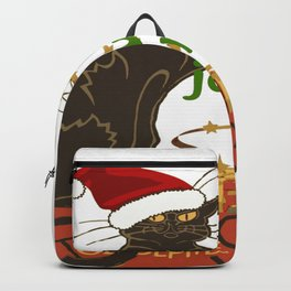 Joyeux Noel Le Chat Noir Christmas Parody Backpack