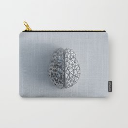 2 sides of human brain concept reflective metal Carry-All Pouch