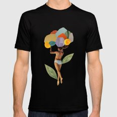 i walk out in the flowers and feel better LARGE Mens Fitted Tee Black