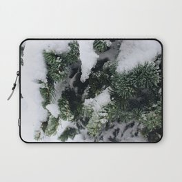 Snow Frosted Pines Laptop Sleeve