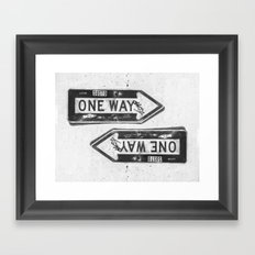 One Way? Framed Art Print