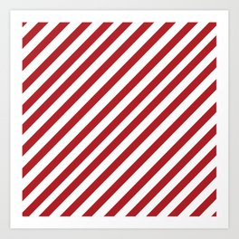 Candy Cane - Christmas Illustration Art Print