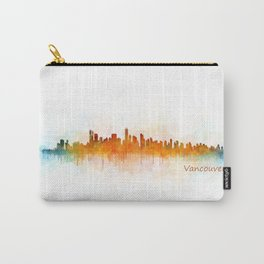 Vancouver Canada City Skyline Hq v03 Carry-All Pouch