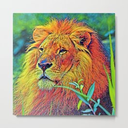 AnimalColor_Lion_005_by_JAMColors Metal Print