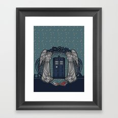 Art Nouveau Weeping Angels and the TARDIS Framed Art Print